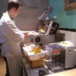 Making fresh pasta.