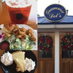 Iced tea, fried oyster Caesar salad and key lime pie!