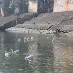 Banganga Wasserbecken bei niedrigem Wasserstand
