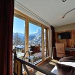 Aussicht aus Zimmer mit Matterhornsicht