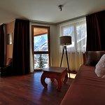 Sitzecke in Style Doppelzimmer mit Matterhornsicht