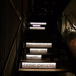 Stair case at the Game Room at Coco's Tam