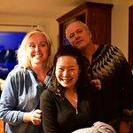 Wonderful hosts Elin and Borgar (left, right behind)