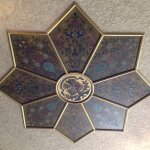 Ceiling centrepiece beautifully restored