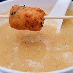 Tiny Corn Pakoda with the corn soup