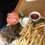 Black Bean and Roasted Sweet Potato Burger