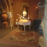 Piano player inside the hotel