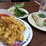 calamari and summer roll