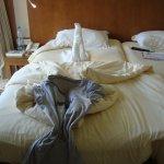 mon lit après le passage de l'homme de ménage