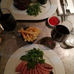 Roast duck breast and rib-eye steak at Côte Brasserie Chichester