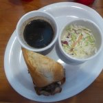 Half of a french dip