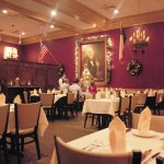 Main Dining Room under portrait of Sam Houston
