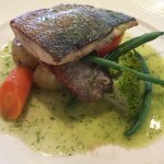 Sea bass from the fixed price mains menu