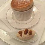 Christmas spiced soufflé, mince pies' ice cream