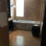 Room had both a bathtub and rain shower