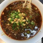 Spicy Thin Noodles with minced pork