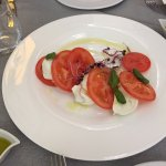 Appetizer - fresh tomatoes and buffalo mozzarella - delicious
