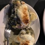 That's a lemon cream sauce added to the usual oysters Rockefeller.