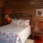 The Log Cabin Suite feels like an actual log cabin!