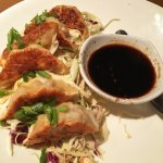 Chicken Potstickers appetizer w/ginger soy sauce