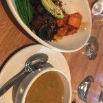 chicken tortilla soup and 1/2 ancient grain bowl