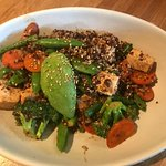 teriyaki quinoa bowl with tofu