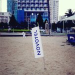 The beach right infront of Novotel