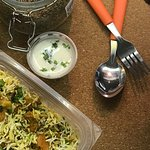 The best Veg Biryani made with delectable chunks of Paneer, Cauliflower, Carrots Potatoes and Sp