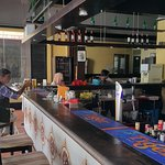 The spacious Mare Blu bar