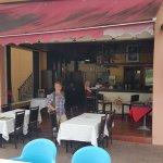 Plenty of harbourside seating at Mare Blu bar