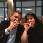 Me and my wife with the famous cigar