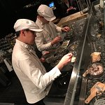 The two chefs busy during service