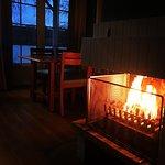 Salon avec cheminée (cottage VIP)