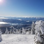 Whitefish Lake and townsite from near the Summit - Lift 1.