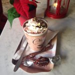 Wonderful find on Christmas Day Friendly! Delicious hot chocolate apple pie and awesome coffee!