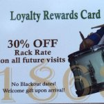 Loyalty Rewards Card program is a great gimmick....