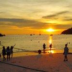 Sunset beach view from Sita Beach Resort