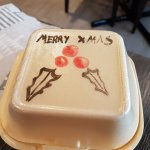 Doggie bag for the mince pies! (couldn't cope with them at the end as we were too full!)
