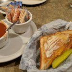 Grilled Cheese and Tomatoe soup