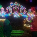This was a spectacular light display in Santa's Village.