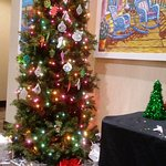 One of the many decorated trees. This was one that let visitors decorate their own ornaments!