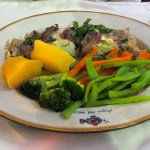 Simple grilled fish, steamed veggies, boiled potatoes