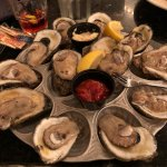 A dozen gulf oysters