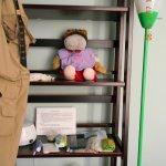 small shelf.