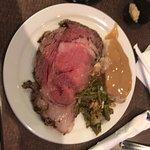 Christmas Buffet prime rib, turkey and green beans