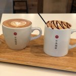 A cappuccino and cafe latte