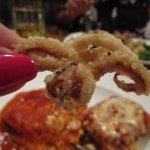 Tom gave me a calamari to try.  Hmmm!