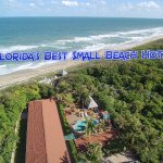 Aerial Shot of Seashell Suites Private Beach