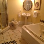 Bathroom with shower, bidet, washbasin & jacuzzi bath