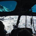 Snow mountain landing